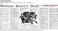 Mistress Brent's Bluff