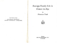 Foreign Family Life in France in 1891