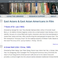 East Asians & East Asian Americans in Filmhttp://www.lib.berkeley.edu/mrcvault/videographies/genre/east-asians-east-asian-americans-film