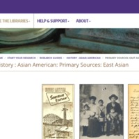Primary Sources of Asian American/East Asian http://guides.lib.uw.edu/c.php?g=582886&p=4024540