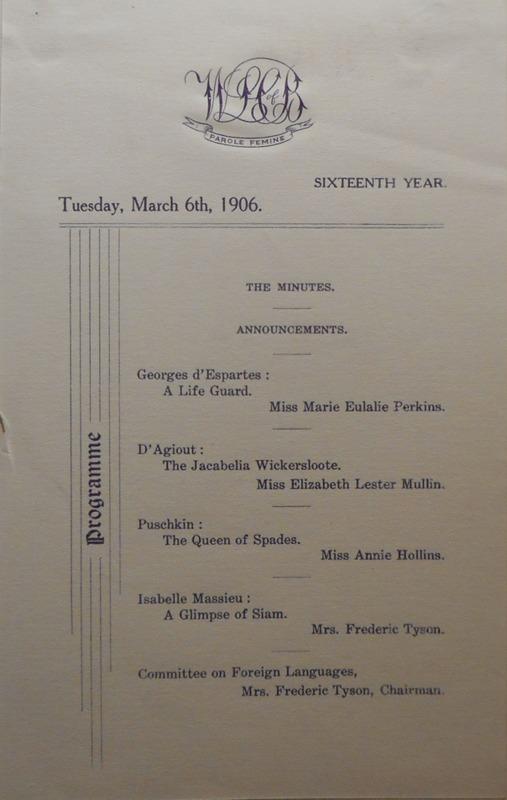 Program, Mar. 6, 1906