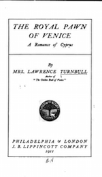 Title page, The Royal Pawn of Venice