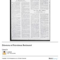 Dilemma of Patrolman Redmond