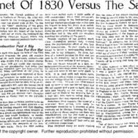 Bonnet of 1830 Versus the Saucer Hat, The