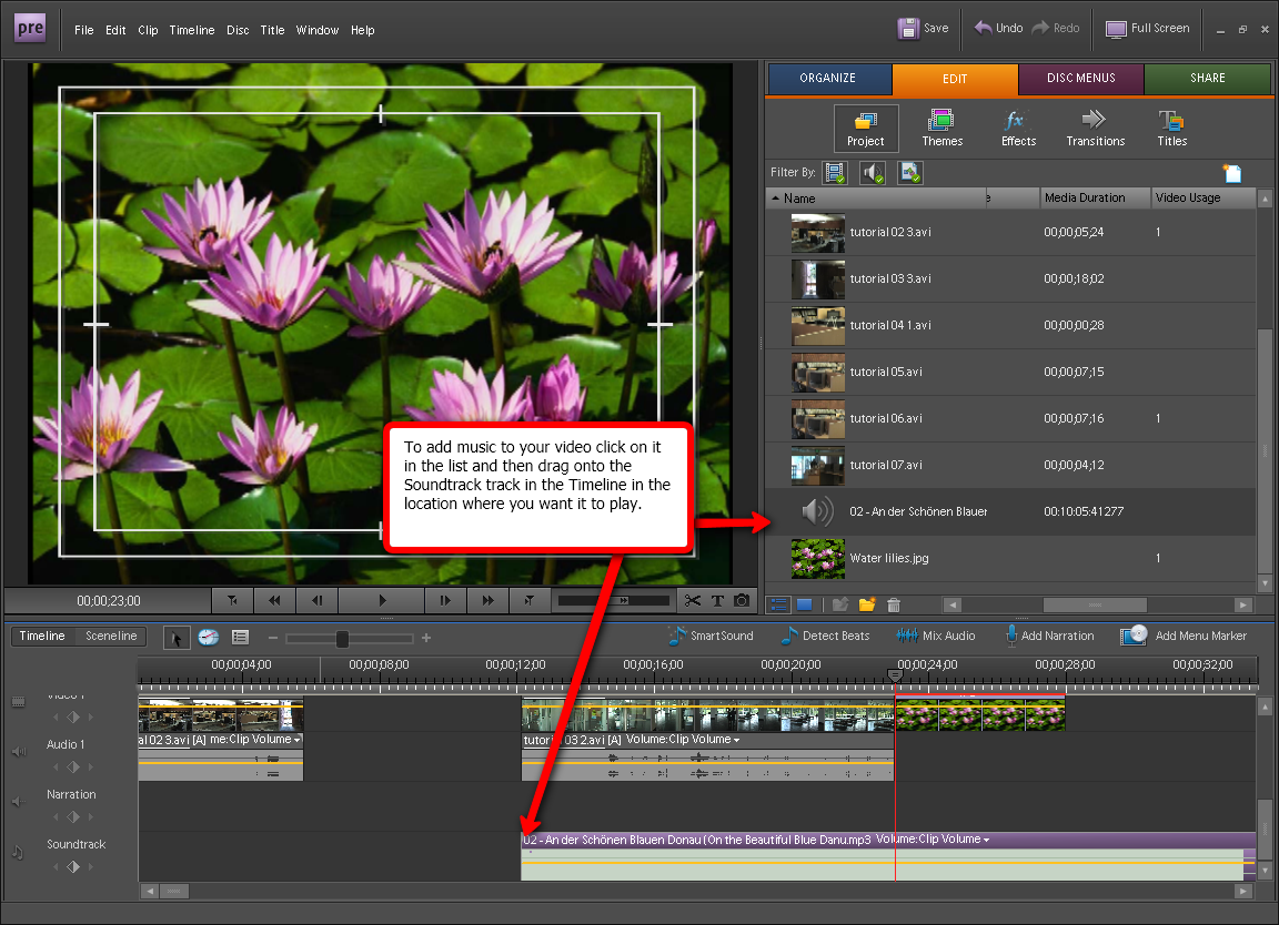 Adobe premiere elements add images